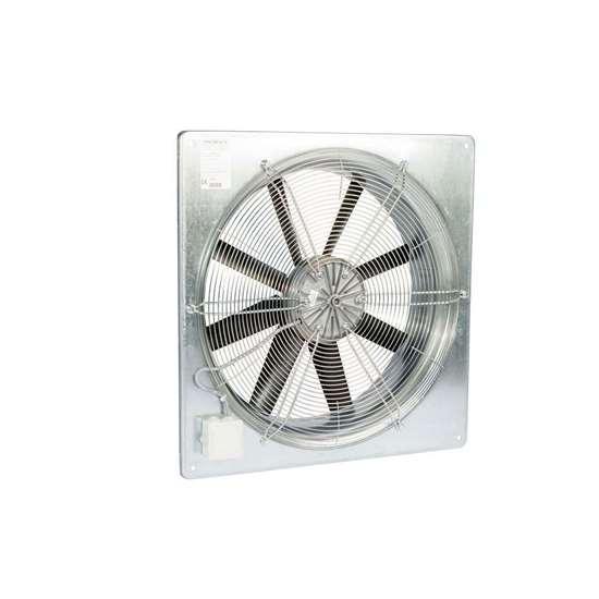 Immagine di Ventilatore assiale Fischbach 230V, AW 315 / EM15 (anello quadrato a parete) con griglia di protezione. Con motore ec. (Fischbach)