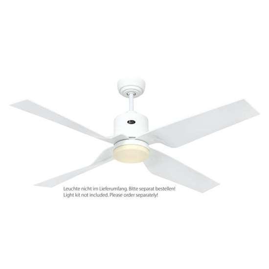 Immagine di Ventilatore da soffitto Eco Dynamix II WE-WE, lacca bianca, Ø 132 cm, con telecomando. Colore d'eliche in plastica bianca.