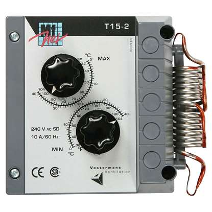 Image de Thermostat T 15 - 2. 2x1 pôle, réglable 0 - 40°C.