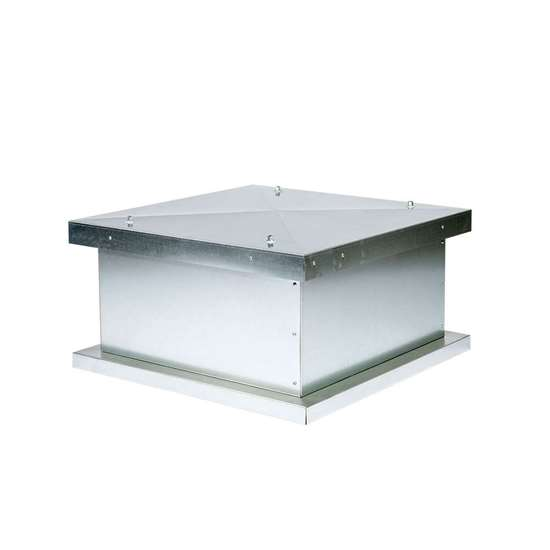 Bild von Dachventilator 230V, 40-3/3 EC CE890/EM 850, einseitig saugend, Ausblas horizontal. Radialventilator mit vorwärts gekrümmten Schaufeln. Mit EC-Motor. (Fischbach)