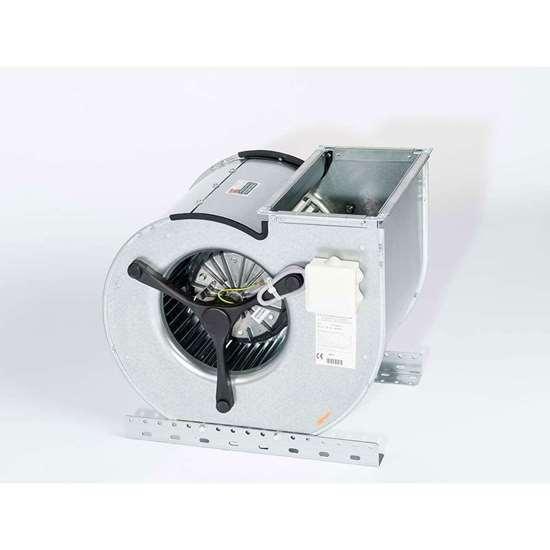 Image sur Ventilateur radiaux 400V, D 730/ DM500. Aspiration bilatérale. Avec moteur ec et des pales recourbées en avant. (Fischbach)