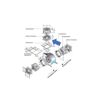 Bild von Distanz-Tuchstutzen für Ausblas-Seite. Für DS8-980. (Fischbach)