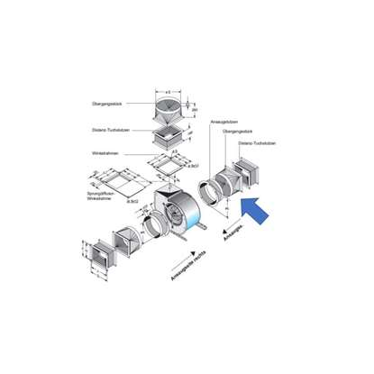 Immagine di Pezzo di transizione. per lato d'aspirazione Per DS8-970, DS8-980. (Fischbach)