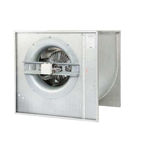 Immagine di Ventilatore ad alto rendimento HE 560/D2.5, 400V, aspirazione a senso unico. Con pale incurvate all'indietro. Parte d'aspirazione destra o sinistra. (Fischbach)