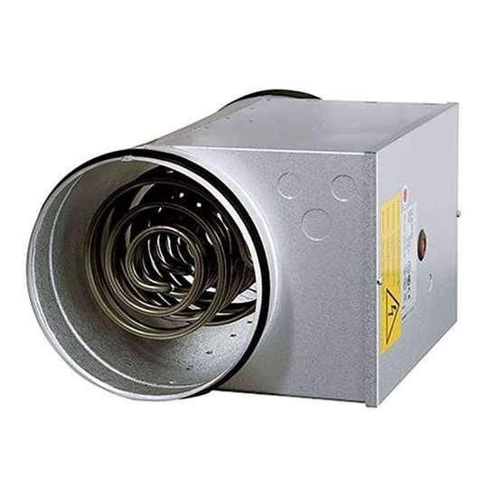 Image sur Batterie électrique pour encastrement dans tuyaux CB 125-1.8 230V/1, 1.8 kW. Ø 125 mm.