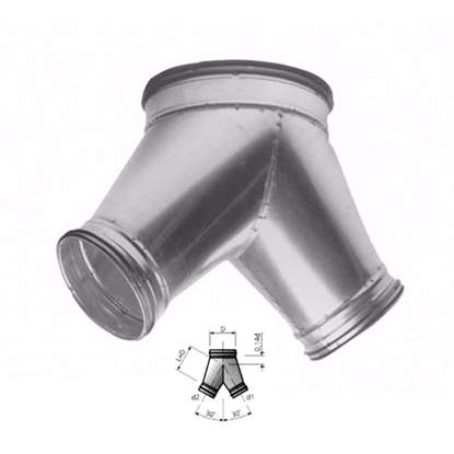 Image de Y-tube 30° VY30, D=100 mm