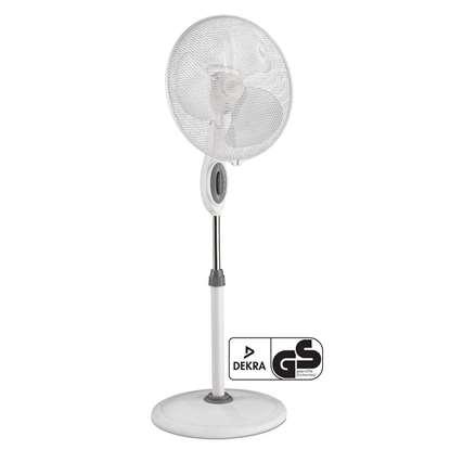 Image de Ventilateur sur colonne  Greyhound Safeline SV 45-10-SL WE, blanc, diamètre hélice 40 cm. 3 vitesses. Convient également pour un usage commercial.