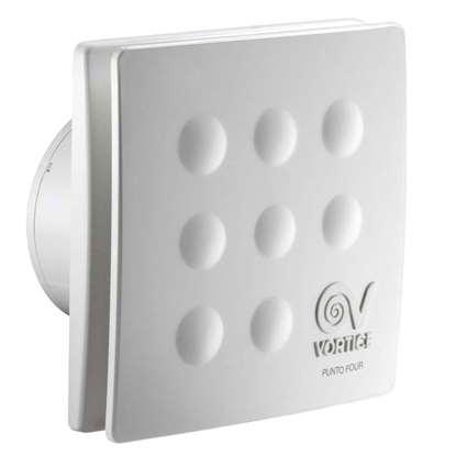 Bild von Vortice Bad-/WC-Ventilator Punto Four MFO 90T. Mit Rückschlagklappe mit Nachlauf.