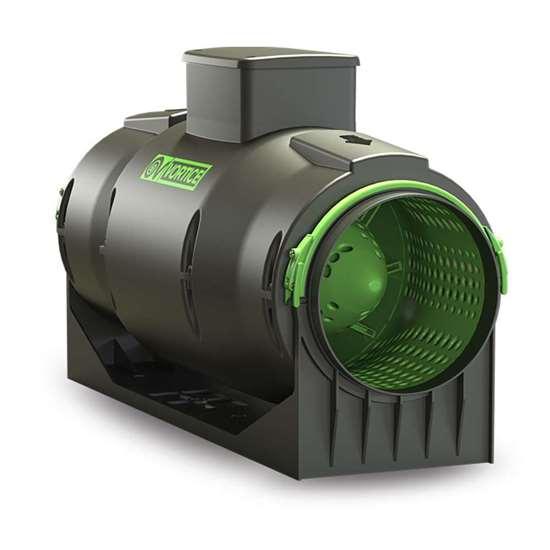 Immagine di Ventilatore tubulare Lineo 150 Quiet ES (nuova versione), 230V. Con motore EC. Regolabile 0-10 V. (Vortice)