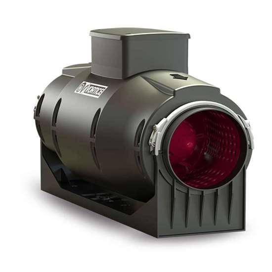 Image sur Ventilateur tubulaire Lineo 150 T Quiet (nouvelle version), 230V. Trois vitesses. Avec Timer 3-20 min.(Vortice)