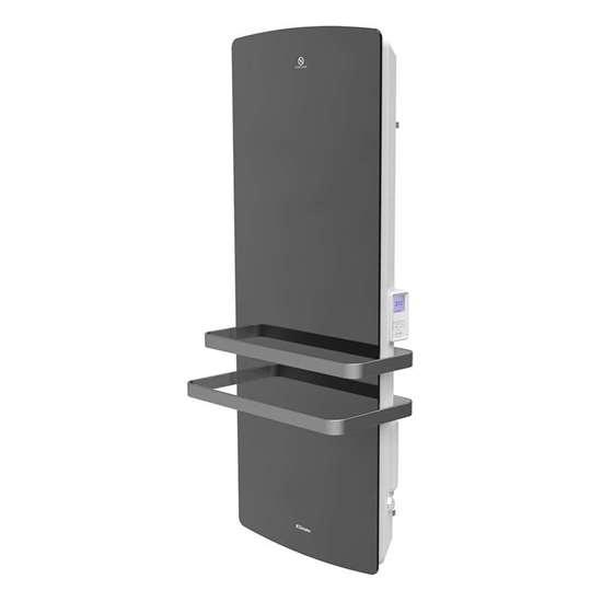 Image sur Radiateur de salle de bains TRP 100M, 230V, puissance de chauffe 1000W. Élément chauffant de surface, 230V, 1000W. Couleur blanc. Avec façade en miroir.