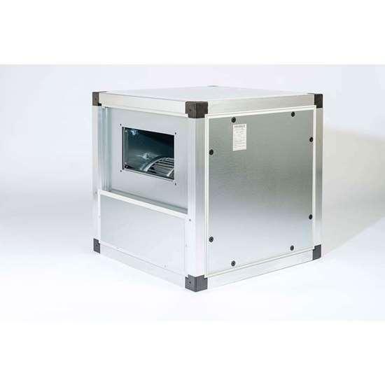 Image sur Unité de ventilation VN 103 EC, 230V, avec ventilateur radiaux DS6-740/EM35. Aspiration bilatérale. Avec moteur ec et des pales recourbées en avant. (Fischbach)