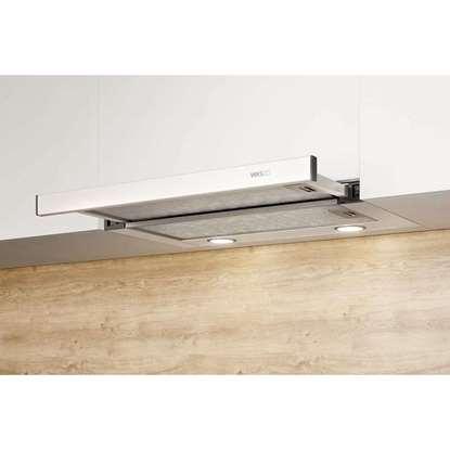 Image de Hotte d'aspirante EVM 206-55 (largeur 55cm) Acier inox avec tiroir vitré extraplat Raccordement du tuyau d'échappement Ø mini [mm]: