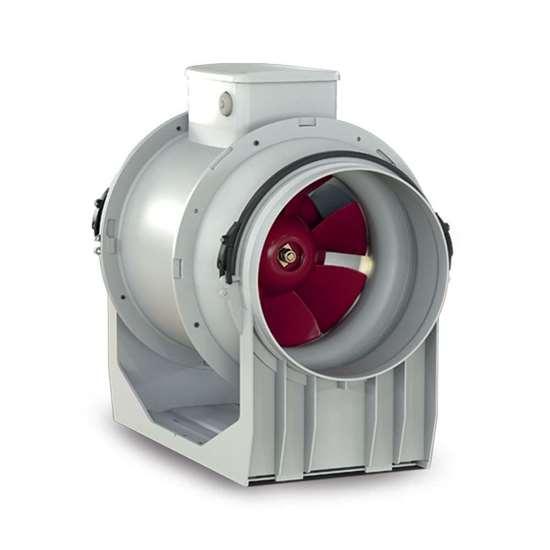 Bild von Rohrventilator Lineo 125 T (Neue Version), 230V. Zwei Geschwindigkeitsstufen. Timer. (Vortice)